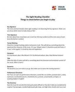 sight-reading-checklist