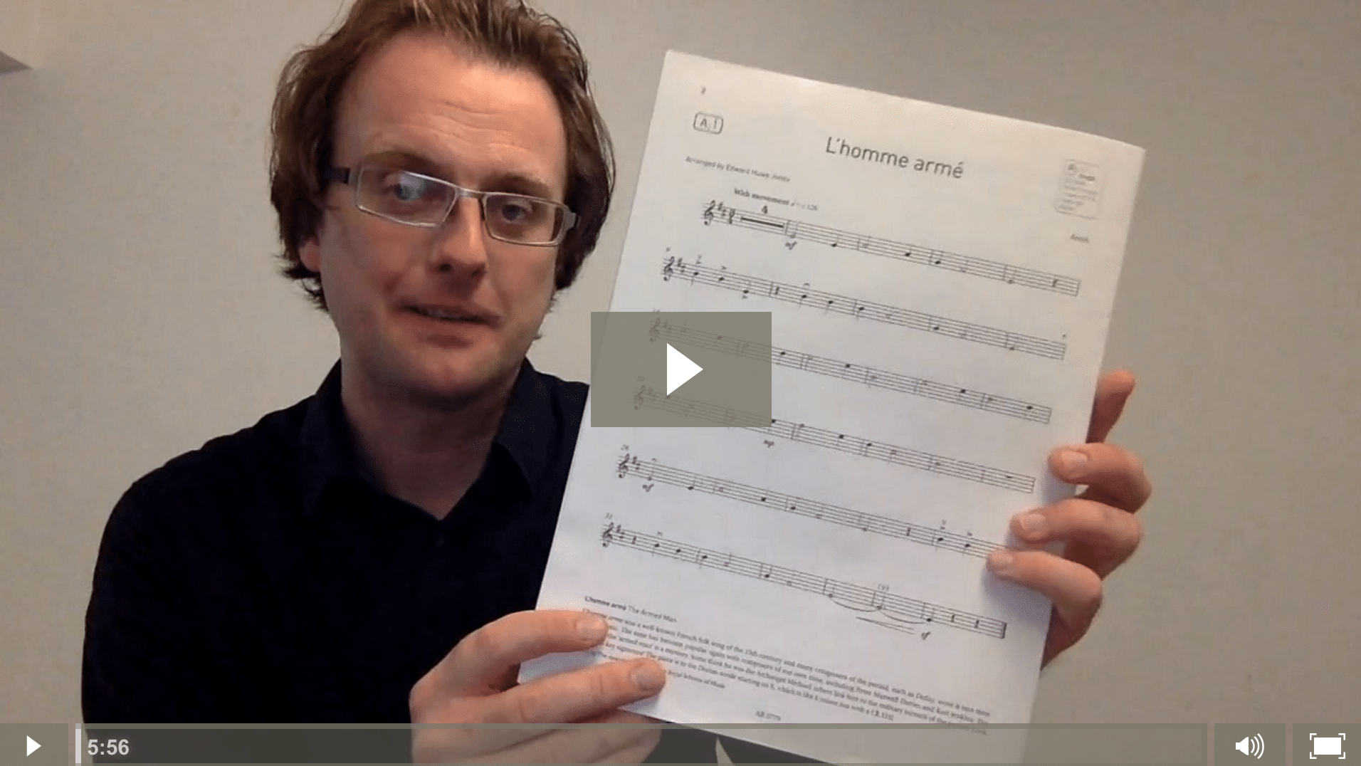 L'Homme Armé - ABRSM Grade 1 Violin Exam Piece A1