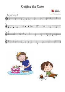Cutting the Cake - ViolinSchool
